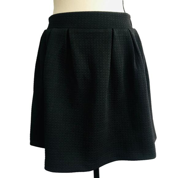 Candie's Dresses & Skirts - Candie's Black Textured Skater Skirt
